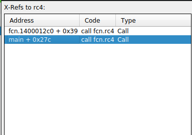 RC4 Function References in Cutter