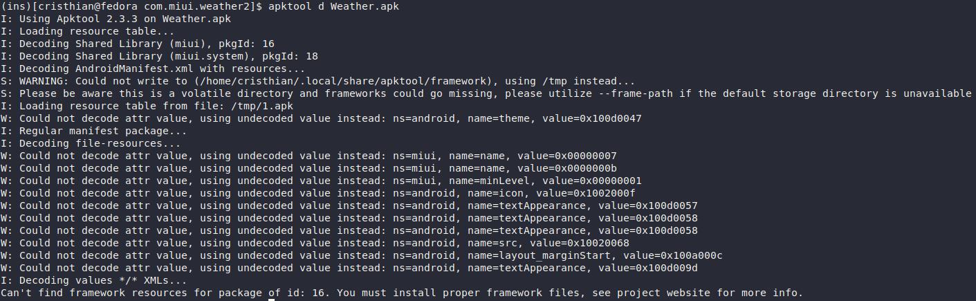 Framework Error